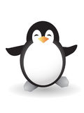 Baby penguin. Isolated baby emperor penguin  of Antarctica Royalty Free Stock Photo