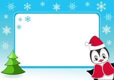 Baby penguin. Christmas photo frame. Vector illustration Royalty Free Stock Photos