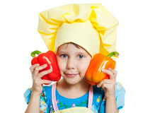 Baby Pepper in hand Royalty Free Stock Photo