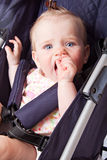 Baby in perambulator Stock Photos