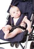 Baby in perambulator Royalty Free Stock Image