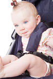 Baby in perambulator Stock Images