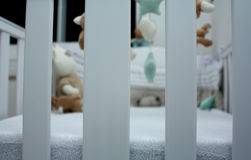 Baby Perspective. View inside a cot Stock Photography