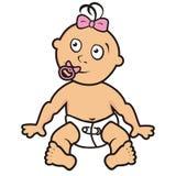 Baby, peuter, meisje stock illustratie