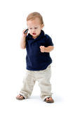 Baby with phone Stock Photo