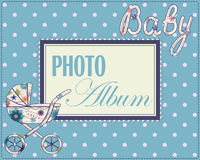 Baby photo album cover Stock Photography