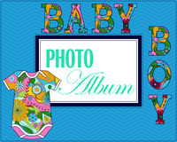 Baby photo album cover Royalty Free Stock Images