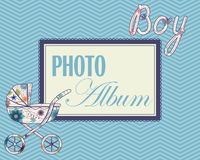 Baby photo album cover Royalty Free Stock Photography