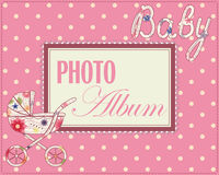 Baby photo album cover Royalty Free Stock Image