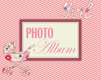 Baby photo album cover Stock Images