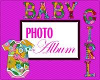 Baby photo album cover Stock Photography