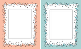 Baby photo frame. Decorative frame for girl and boy photo Stock Images