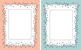 Baby photo frame stock illustration