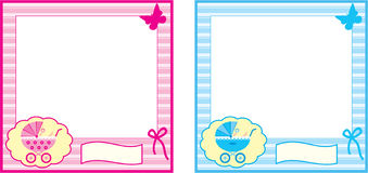 Baby photo frame. Stock Photography