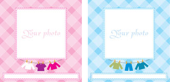 Baby photo frame. Vector illustration, color full, no gradient Stock Photography