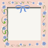 Baby photo frame Royalty Free Stock Images
