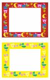 Baby photo frame. Two childrens frames for photo Royalty Free Stock Photo