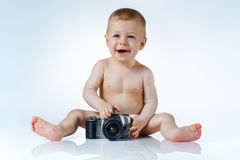 Baby photographer Royalty Free Stock Photo