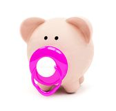 Baby piggybank isolated Stock Photography