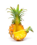baby pineapple with a slice Royalty Free Stock Images