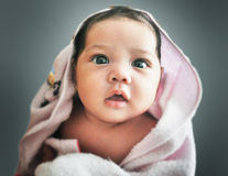 Baby in pink Royalty Free Stock Photography