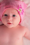 Baby in pink Stock Image