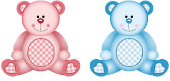 Baby Pink and Baby Blue. Scalable vectorial image representing a baby pink and baby blue, isolated on white Royalty Free Stock Photography