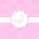 Baby pink background. Decorative background in shades of baby pink with butterfly design Royalty Free Stock Photography