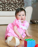 Baby in pink Royalty Free Stock Photo