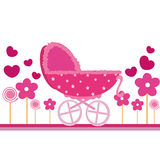 Baby pink card. For invitation, poster, banner, icons and others Stock Images