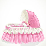 Baby in pink cradle Royalty Free Stock Photos