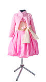 Baby pink dress Stock Images