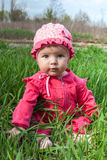Baby in a pink dress Royalty Free Stock Photo