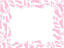 Baby pink footprint Background Stock Image