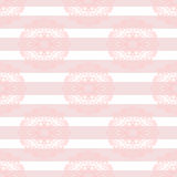 Baby pink mandala subtle striped seamless pattern Stock Image