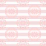 Baby pink mandala subtle striped seamless pattern Stock Image