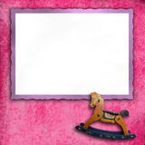 Baby pink photo frames Stock Photos