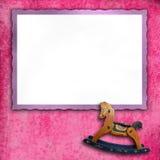 Baby pink photo frames Stock Photos
