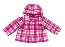 Baby pink plaid jacket Royalty Free Stock Image