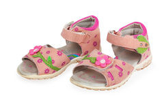 Baby pink sandals Royalty Free Stock Photo