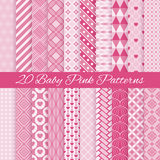 Baby pink seamless patterns. Vector illustration Royalty Free Stock Images