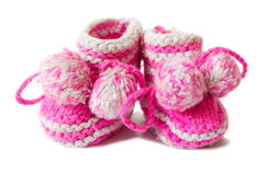 Baby Pink Shoes Stock Photo