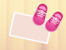 Baby pink shoes Royalty Free Stock Photo