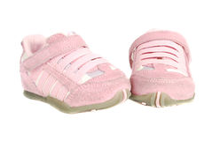 Baby pink  sneakers Stock Photography