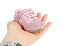 Baby pink  sneakers Stock Images