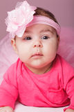Baby in pink tutu Stock Images