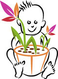 Baby plant logo Stock Images