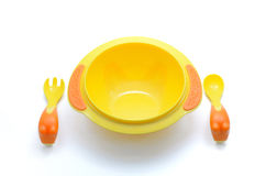 Baby plastic bowl royalty free stock photography