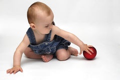 Baby in the play Royalty Free Stock Image