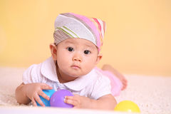 Baby play ball Stock Photography